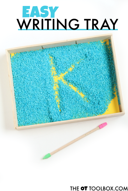 letter formation writing tray