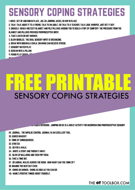 Try these sensory coping strategies to help kids with anxiety, stress, worries, or other issues.
