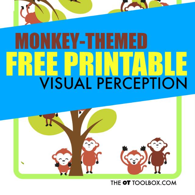 Visual perception free printable sheet for addressing skills like visual -figure ground, visual discrimination, visual memory and other perceptual skills.