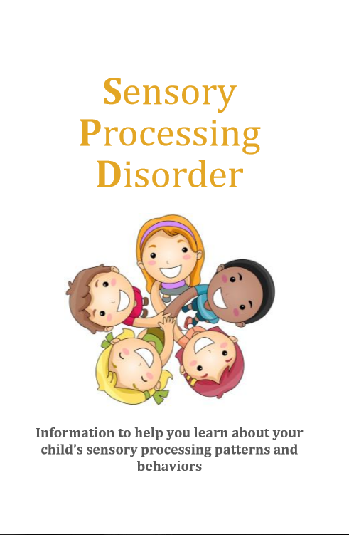 Sensory processing disorder printable packet for parents, teachers, or anyone who works with kids with SPD