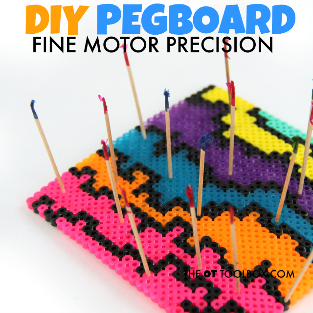 Kids will love this fine motor precision pegboard that works on fine motor skills needed for handwriting and other tasks.