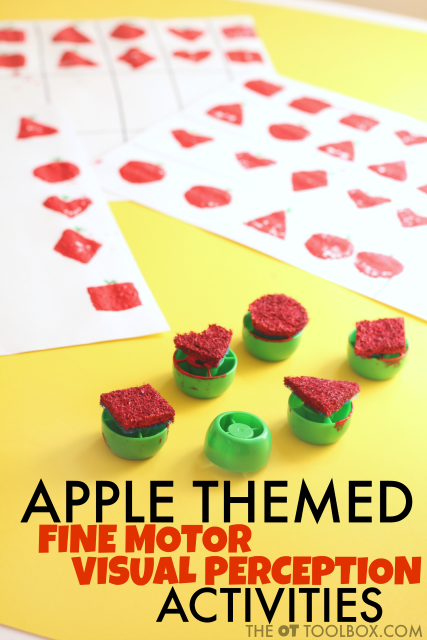 Apple visual perception activities for kids