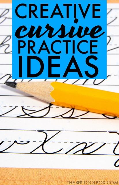 creative cursive handwriting activities