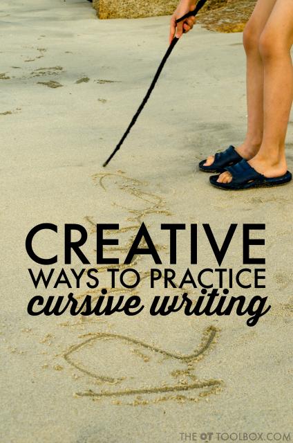 creative cursive writing ideas