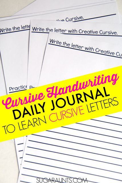 Daily writing journal for kids to practice letter formation