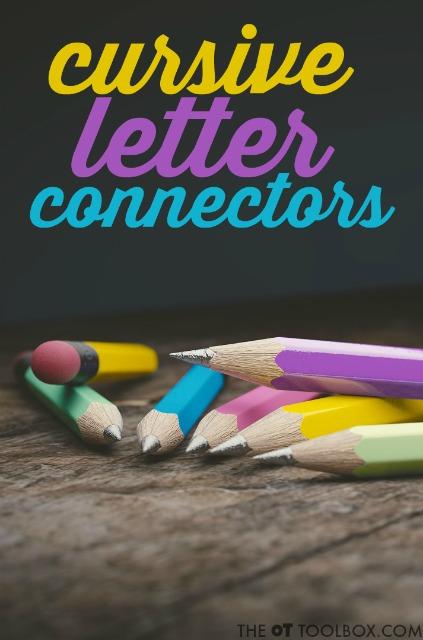 forming cursive letters connectors