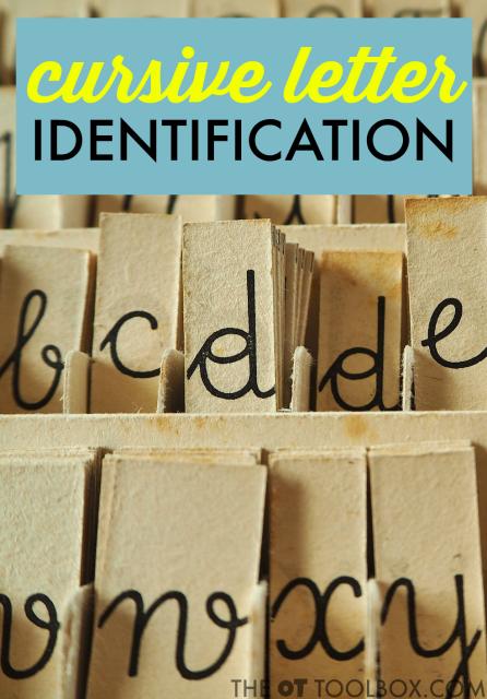 identify cursive letters