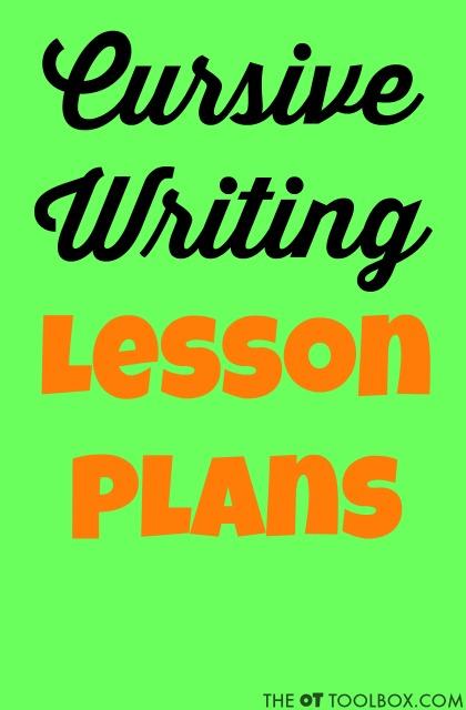 cursive letter formation lesson plans