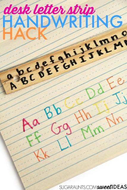 Letter formation trick