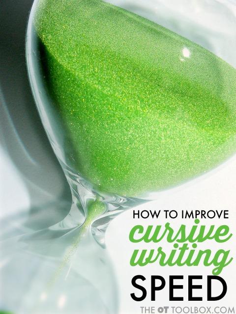 cursive writing speed