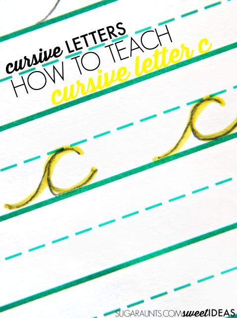 How to Teach Cursive Letter C