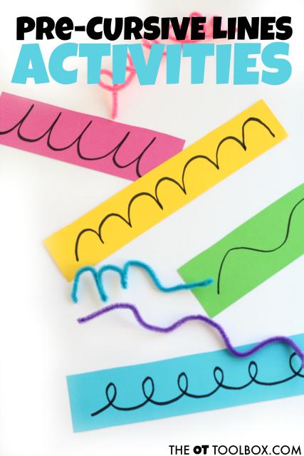 pre-cursive letter activities