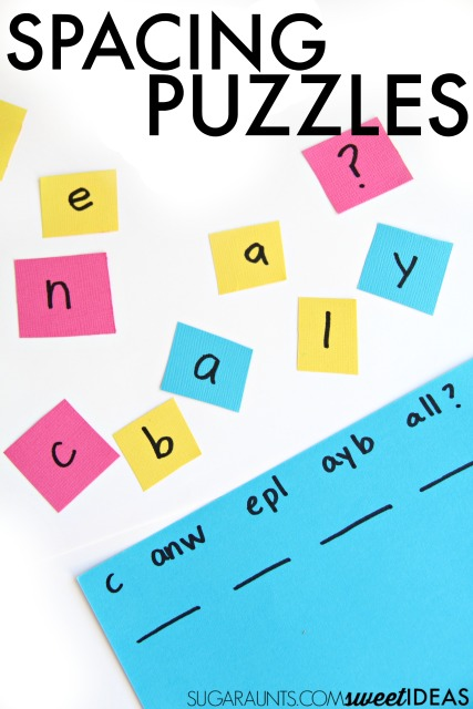 Spacing Puzzles for Handwriting Activities