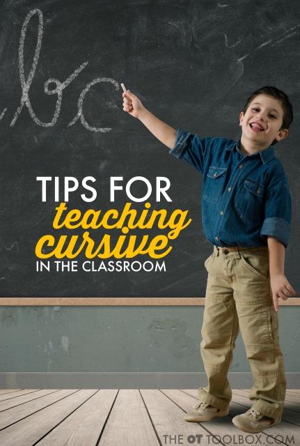 tips to teach cursive writing