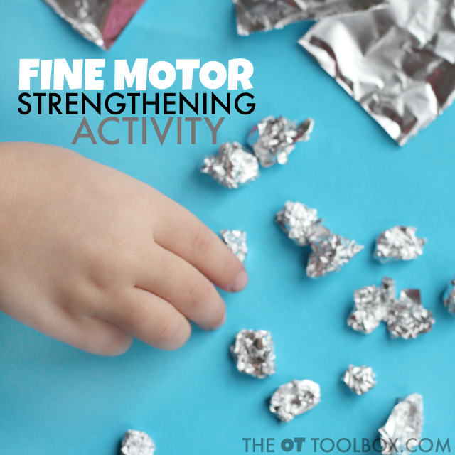 Use foil to develop fine motor strength with this foil activity for kids, it's perfect for strengthening the hands for a better pencil grasp.