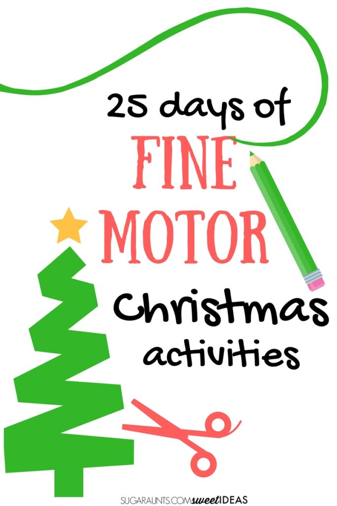 Use these 25 days of Christmas ideas as therapy planning for Occupational therapy Christmas ideas with the kids.