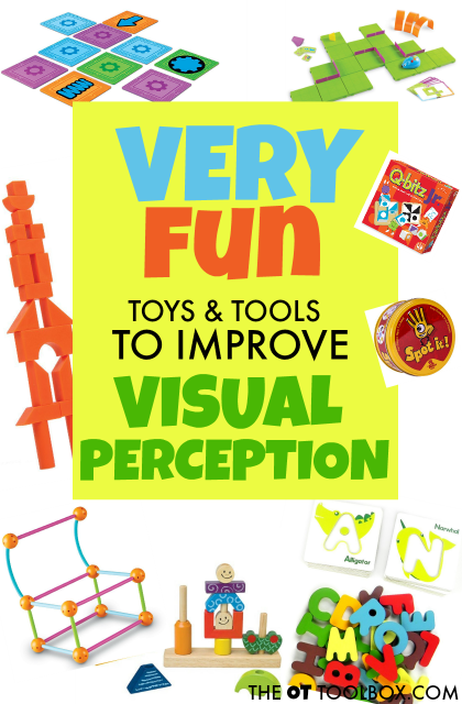 Use these toys and tools to help kids develop and improve visual perception needed for handwriting, reading, and writing.