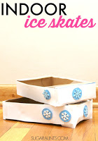 Indoor Ice Skates proprioception and vestibular sensory play activity