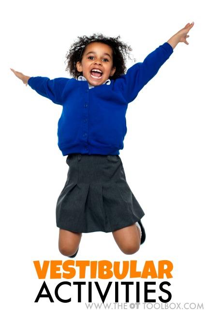 Vestibular activities for kids