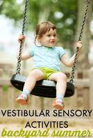 Try these backyard vestibular sensory activities for summer