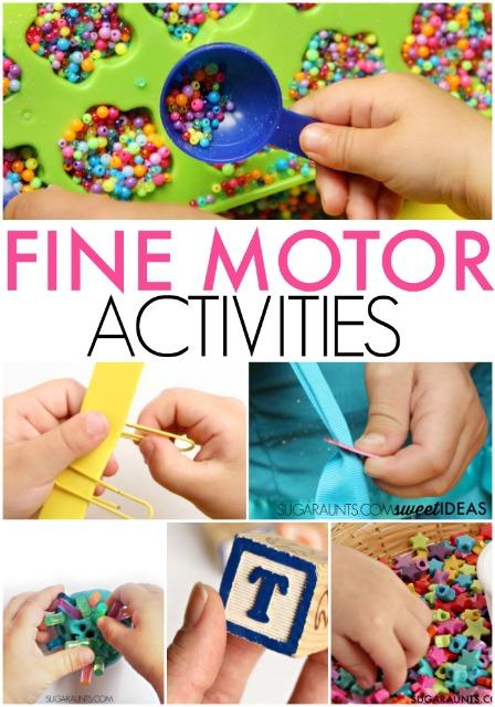 Fine motor activities for kids to help develop skills
