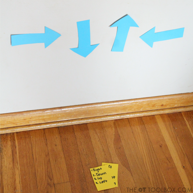 Teach spatial concepts and spatial reasoning with arrows.