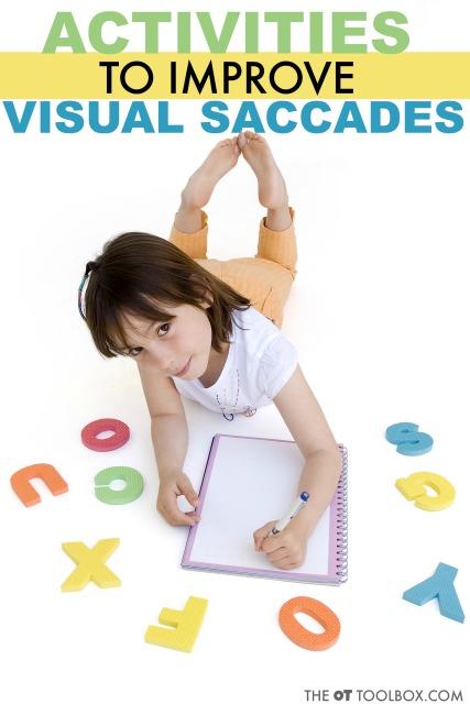 visual saccade activities