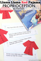 Llama Llama Red Pajama Proprioception Sensory Play