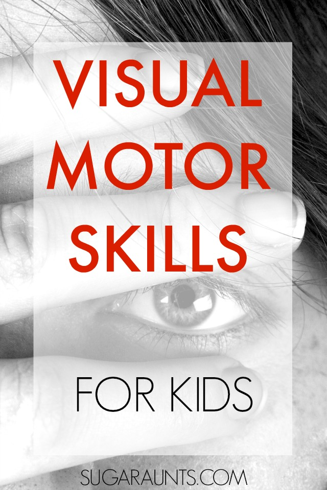Kids rely on their development of visual perceptual skills for so many functional tasks.  From handwriting to self-care, visual motor skills are important!  This blog has so many ideas for activities to work on visual motor and eye hand coordination with kids!