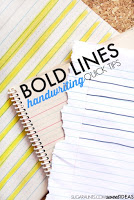 bold lines in handwriting to write on the lines