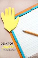 Paper position when writing