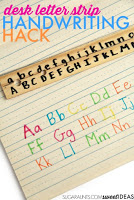 Make a Desk Letter Strip from a ruler to help kids work on letter formation.