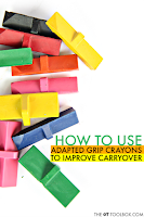 Improve Grasp Carryover with Molded Crayons