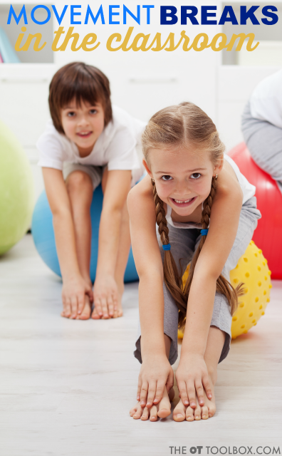 Classroom breaks add an opportunity to boost learning skills and reduce behaviors that interfere with academics. These movement activities and classroom breaks can be incorporated into the classroom and are evidence-based.