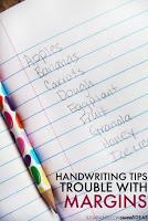 Spatial awareness in handwriting
