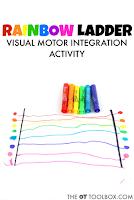 Kids will love this rainbow visual motor activity to address the skills needed for handwriting.