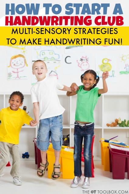 Handwriting club for teaching letters and practice