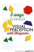 Use tangrams to improve visual perception