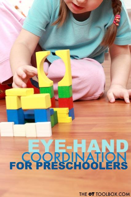 eye hand coordination activities for preschoolers