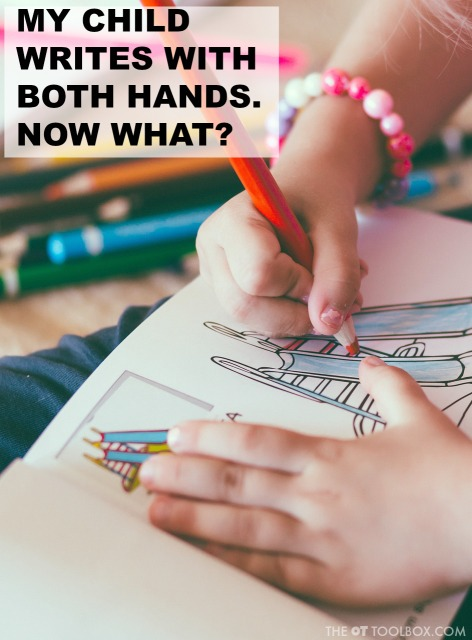 Writing with both hands, wondering what this means for kids in learning and writing? This has great information on mixed dominance and laterality in kids.
