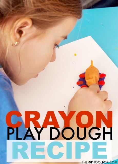 Use broken crayons to make crayon play dough