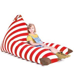 Use a duvet lounger as a flexible seating idea in school.