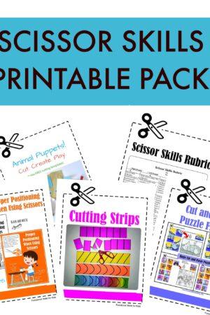 scissor skills printable pack