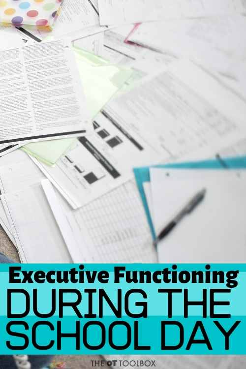 Executive functioning skills during the school day and cognitive skills kids need for transitions in school.