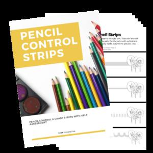 Pencil control strips