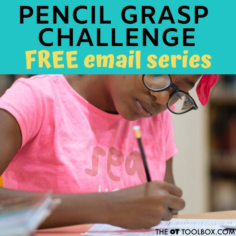 Pencil activities to help kids write with a functional grasp