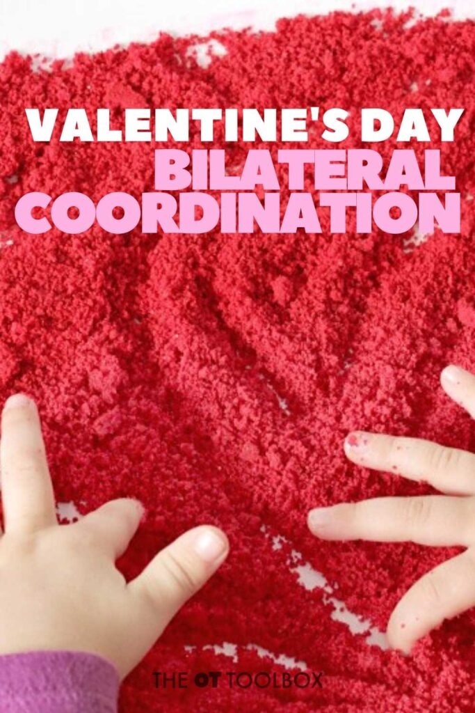 Bilateral coordination activity for valentines day