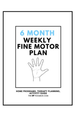 weekly fine motor activity plan