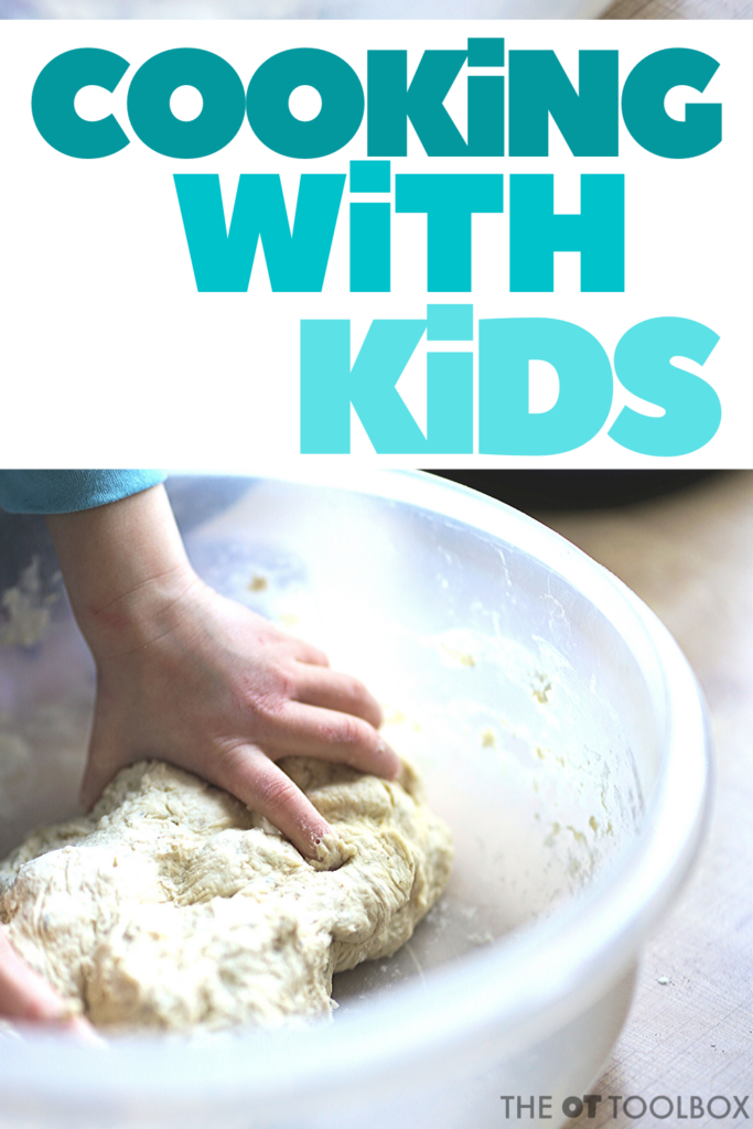 Cooking with kids helps children learn and develop motor skills and learning tasks through cooking activities.