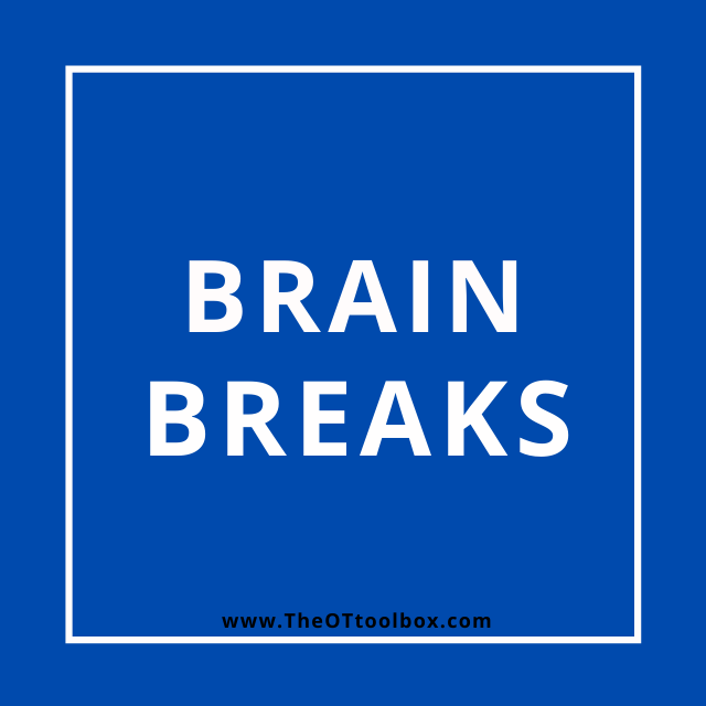 Add brain breaks to occupational therapy telehealth with kids.